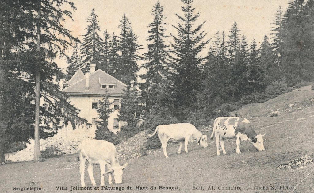 Old picture of Villa Jolimont in Saignelégier